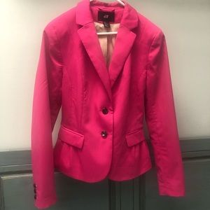 H&M Bright Pink Blazer.. PINK is the new staple!!